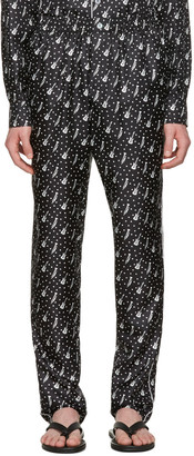 Dolce & Gabbana Black Silk Music Pajama Trousers $995 thestylecure.com