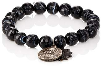 Miracle Icons Men's Vintage-Icon Beaded Bracelet