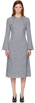 Simon Miller Blue and White Cotton Fitted Dress