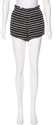 A.L.C. Striped Mid-Rise Shorts