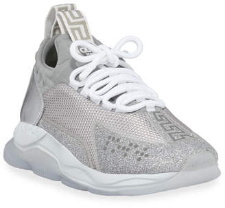 Versace Sparkle Cross Trainer Sneakers