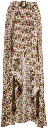 Alexis Baxter-Cape geometric-print skirt