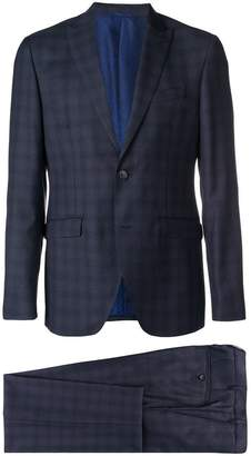 Etro slim fit check suit