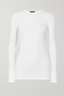 ATM Anthony Thomas Melillo Ribbed Stretch-micro Modal Top - White