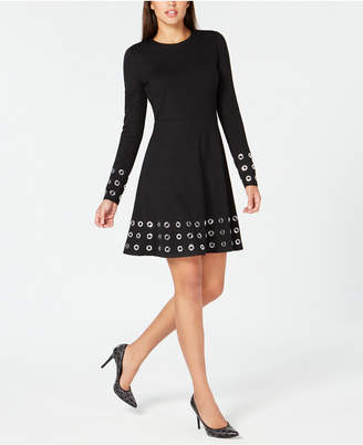 Michael Kors Grommeted Fit & Flare Dress, In Regular & Petites