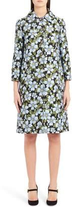 Dolce & Gabbana Button Floral Jacquard Coat