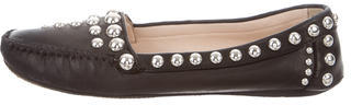 pradaPrada Leather Studded Loafers
