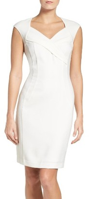 Women's Ellen Tracy Crepe Sheath Dress $108 thestylecure.com