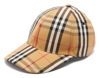 Burberry Vintage Check Cotton Baseball Cap - Mens - Tan Multi 64f48e65096