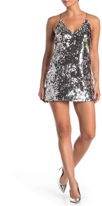 SEE THE SHADES T-Back Sequined Mini Dress