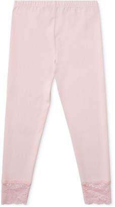 Polo Ralph Lauren Big Girls Lace-Cuff Jersey Leggings