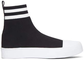 Neil Barrett Black Sock High-Top Sneakers