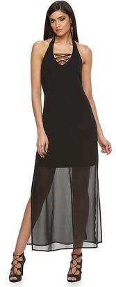 Women's Jennifer Lopez Lace-Up Halter Dress $80 thestylecure.com
