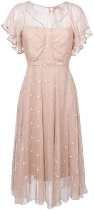 No.21 embroidered floral detail dress