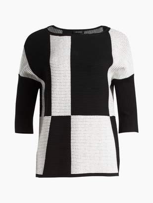 St. John Ottoman Intarsia Knit Sweater