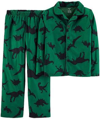 Carter's Button Front Top & Pant Pajama 2 pc Set - Preschool Boys