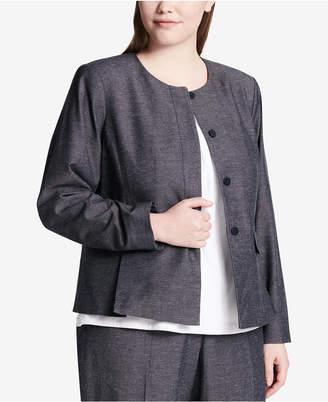 Calvin Klein Plus Size Collarless Blazer