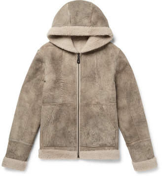 Yves Salomon Reversible Shearling Hooded Parka