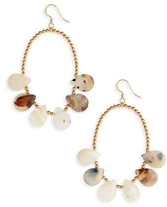Love's Affect Dahlia Stone & Bead Drop Earrings