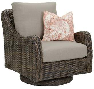 Pottery Barn Abrego All-Weather Wicker Swivel Rock Occasional Chair