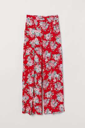 H&M Pants with Slits - Red