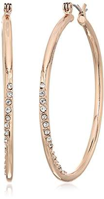 """GUESS Basic"""" Stone Front Hoop Earrings"""