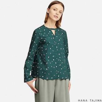 Uniqlo Women's Flare Printed Long-sleeve Blouse (hana Tajima)