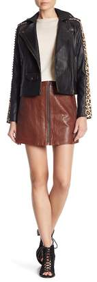 Muu Baa Muubaa Impala Leather Skirt
