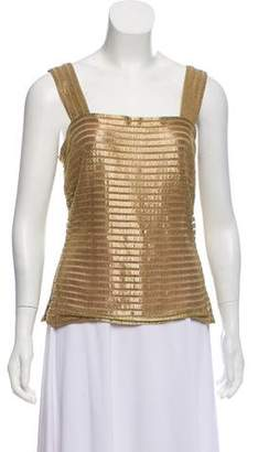Calvin Klein Collection Mesh Sleeveless Top