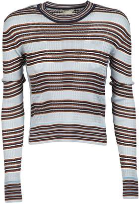 Fendi Striped Fitted Sweater