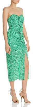 LIKELY Jordana Strapless Floral-Print Midi Dress