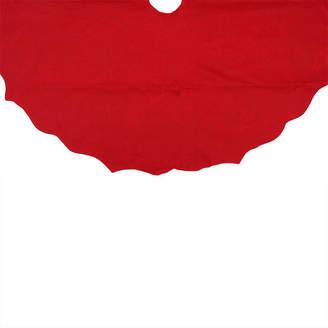 Asstd National Brand 48 Christmas Traditions Cardinal Red Scalloped Edge Christmas Tree Skirt