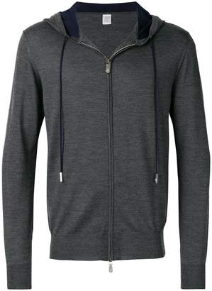 Eleventy hooded zipped jacket