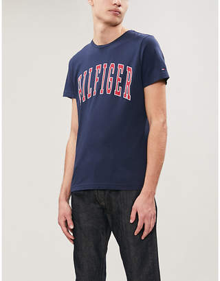 Tommy Hilfiger College logo-print cotton-jersey T-shirt
