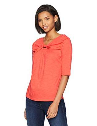 Brooke Mille Women's T-Shirt -Front Knot Design Neck XS