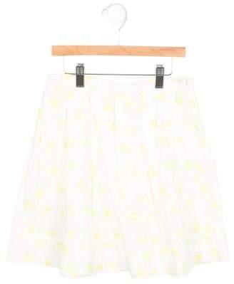 Marni Girls' Flower Print A-Line Skirt w/ Tags