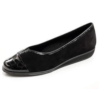Vaneli Abaka Suede Flat, Black $79 thestylecure.com