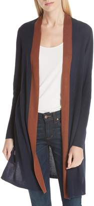 Eileen Fisher Long Colorblock Cardigan