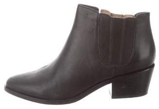 Joie Leather Almond-Toe Booties