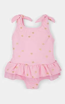 a54138f96dda9 Snapper Rock Infants' Metallic-Star Peplum One-Piece Swimsuit - Pink