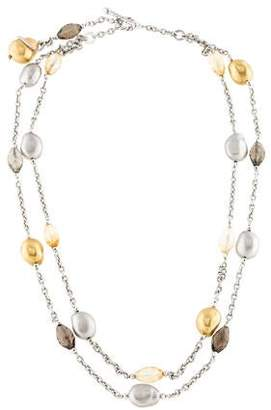Roberto Coin Citrine, Smoky Quartz & Diamond Necklace