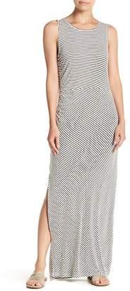 Bobeau Striped Ruched Maxi Dress (Petite)