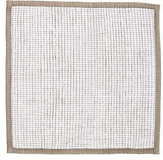 Anichini Linen Giedre Rectangular Placemat - White