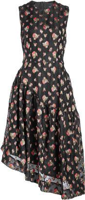 Simone Rocha Asymmetric Print Dress