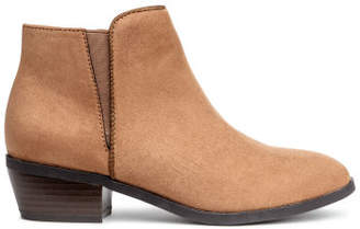 H&M Boots with a zip - Beige