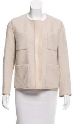 Lafayette 148 Collarless Tweed Jacket