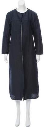 Max Mara 'S Long Sleeve Open Front Duster