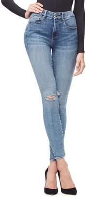 Good American Good Legs Ripped High Waist Skinny Jeans