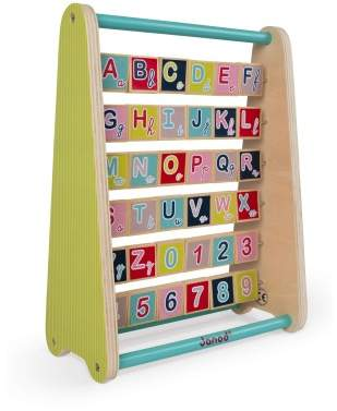 Janod Baby Forest Wooden Alphabet Abacus