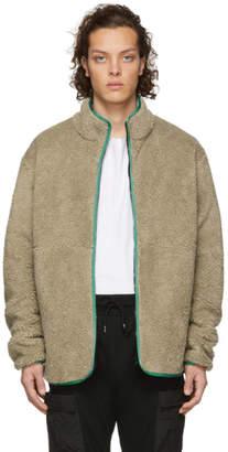 John Elliott Reversible Brown and Purple Polar Fleece Jacket